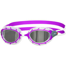 Zoggs Predator Mirror Lunettes de protection Enfant, purple/white/mirror